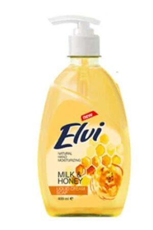 Течен сапун за ръце ЕЛВИ Мед и мляко 400 мл